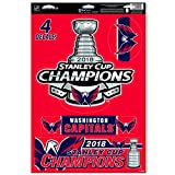WinCraft Washington Capitals Official NHL 11'' x 17'' 2018 National Champions Decal 11x17 Sticker Cling by 862488