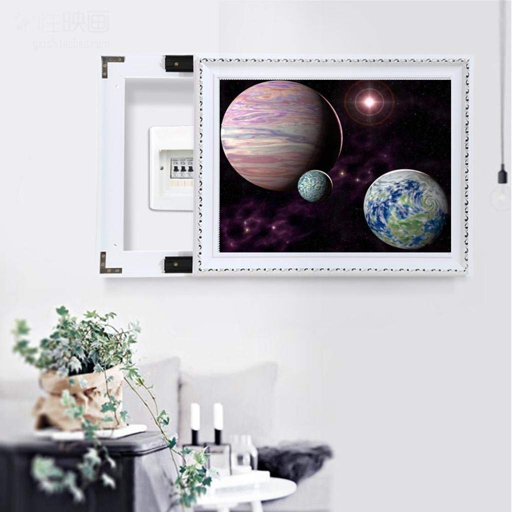 A Full Drill DIY Cross Stitch Kit Crystals Painting 5D Diamond Embroidery Rhinestone Pictures Painting Canvas Arts Wall Decor Outer Space Landscape Staron 5D Diamond Painting by Number Kits