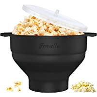 Microwave Silicone Popcorn Popper, Fenvella Collapsible Hot Air Microwavable Popcorn Maker BPA Free & Dishwasher Safe…