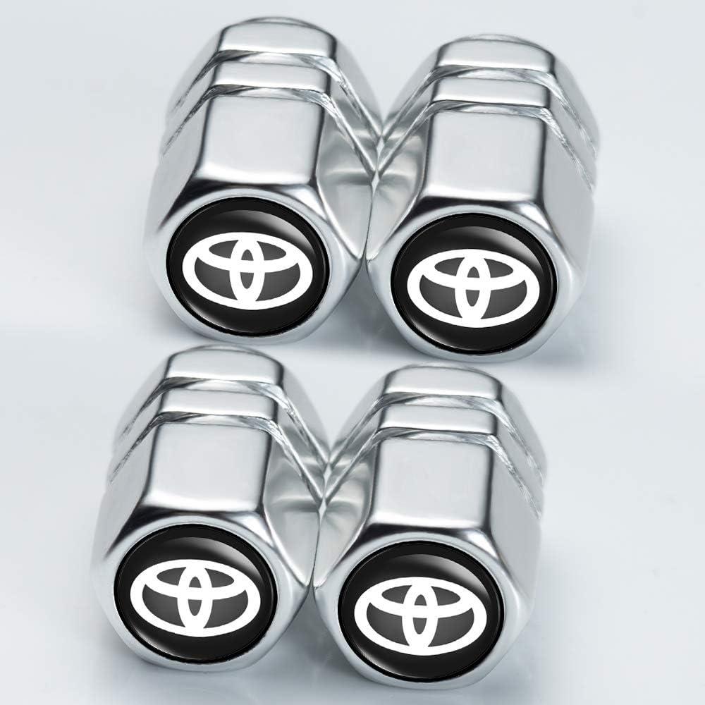 N//P Car Wheel Tire Air Valve Caps Stem Cover for Toyota Hatchback Camry Prius,Avalon Corolla RAV4 Highlander Logo Styling Decoration Accessories. 4 Pcs Avalon