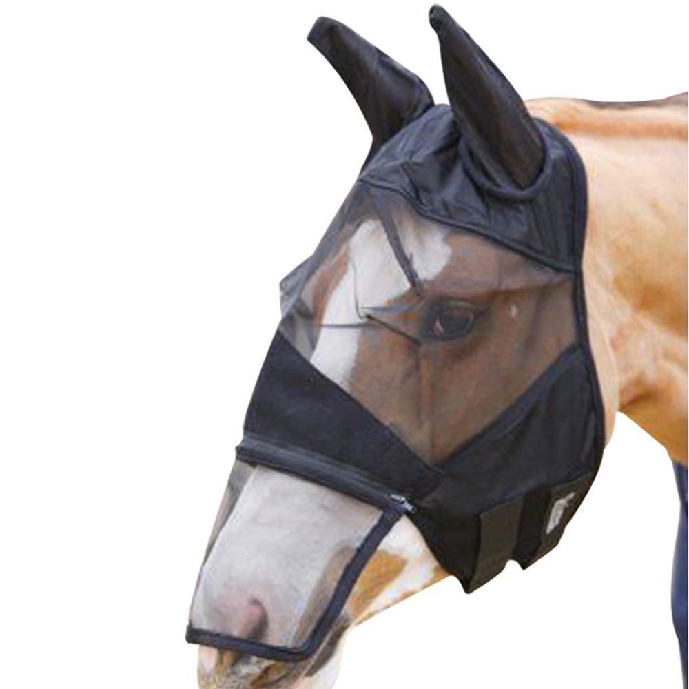 Foonee - Máscara de Mosca para Caballo Natural, Protege la Cara y los Ojos de los Caballos de Moscas y Rayos UV, Color Negro: Amazon.es: Productos para ...