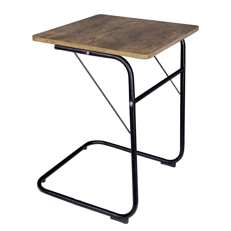 WOLTU TS74br Tavolino Laterale da Divano Letto Tavolo da caff/è Supporto Piano Dappoggio in Legno Metallo