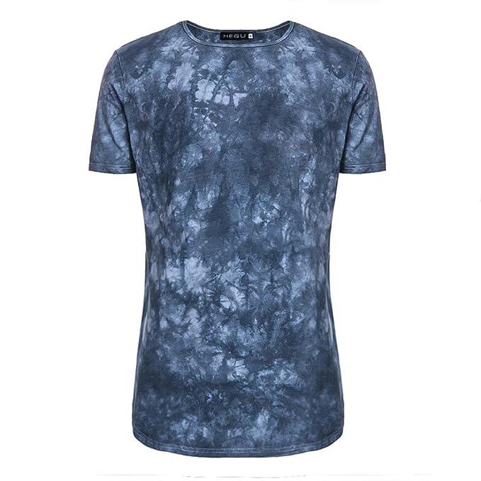 ALIKEEY Moda Casual De Manga Corta con Cuello En V Camiseta Verano para Hombre Blusa Superior