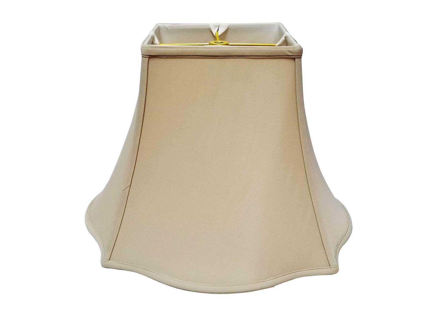 Royal Designs Fancy Square Bell Lamp Shade - Beige - 7 x 16 x 12.75