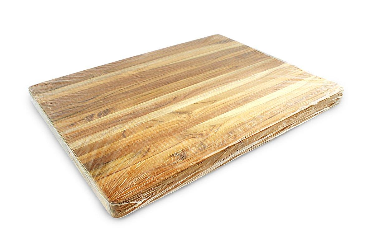 Terra Teak Cutting Board - Extra Large Wood Board 24 x 18 x 1.5 Inch by Thirteen Chefs (Image #7)