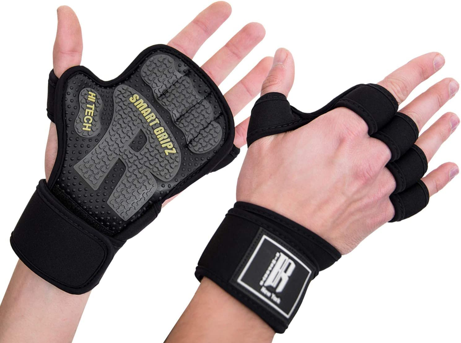 PREMIUM QUALITY VINTAGE FINGER LESS WEIGHT LIFTING GYM FITNESS LEATHER GLOVES