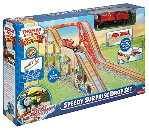 Fisher-Price-Thomas-the-Train-Wooden-Railway-Speedy-Surprise-Drop-Set