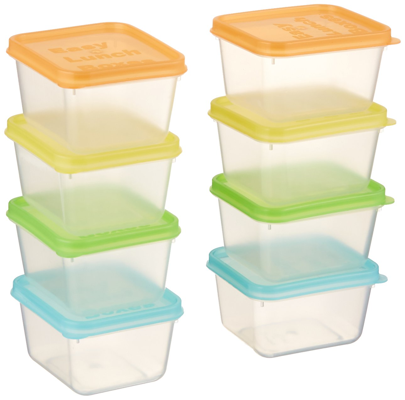 EasyLunchboxes Mini Dippers Small Dip, Condiment, or Sauce Containers, Leak-Resistant, Set of 8 ELB3-DIPPERS