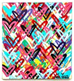 Free Shipping 39'' x 36 Love Hearts painting street art graffiti canvas nyc style contemporary pop art modern colorful original acrylic spray paint art work by Chris Riggs