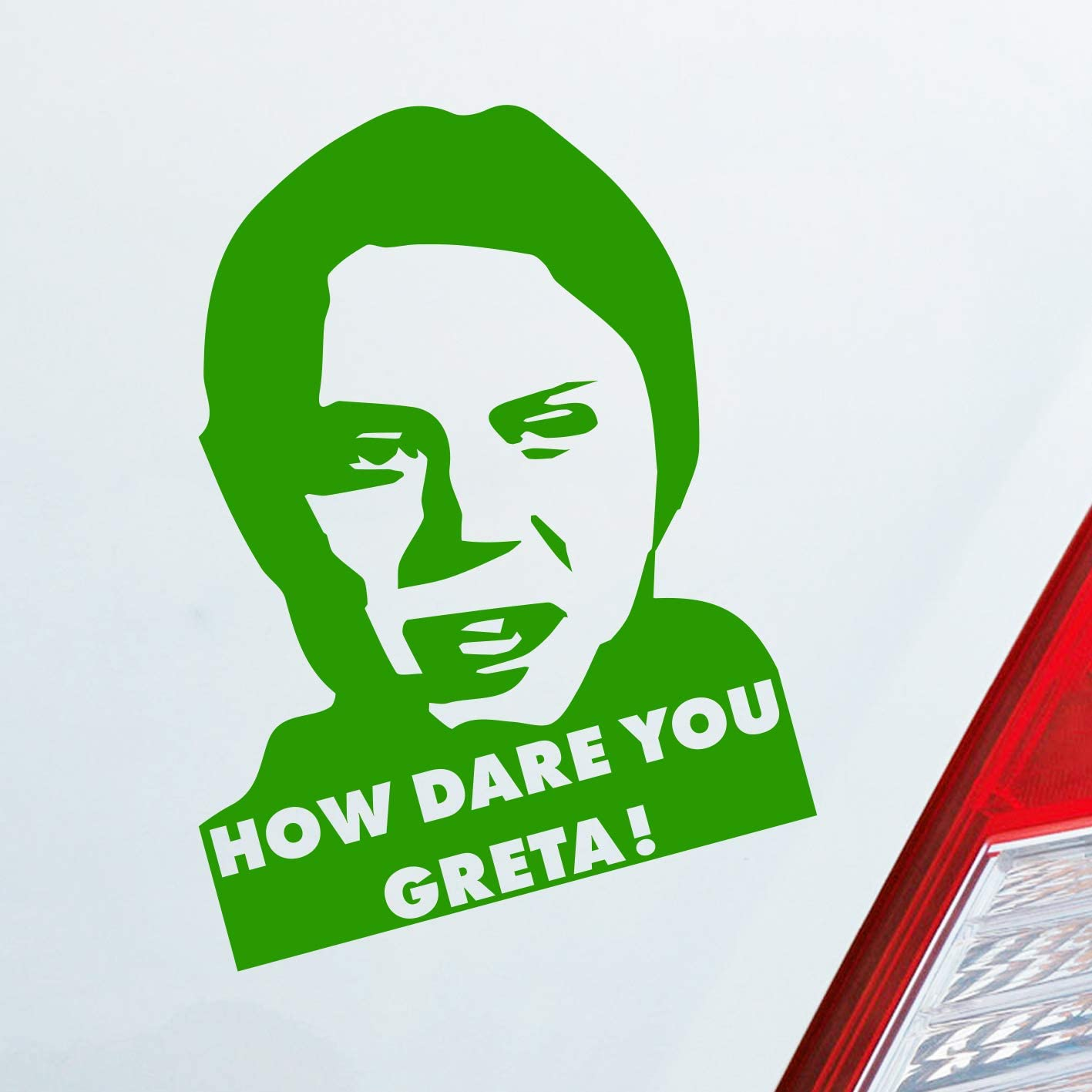 7 x 10 cm car sticker Car Sticker in Your Choice of Colour How Dare You Greta How can you dare Fridays approx