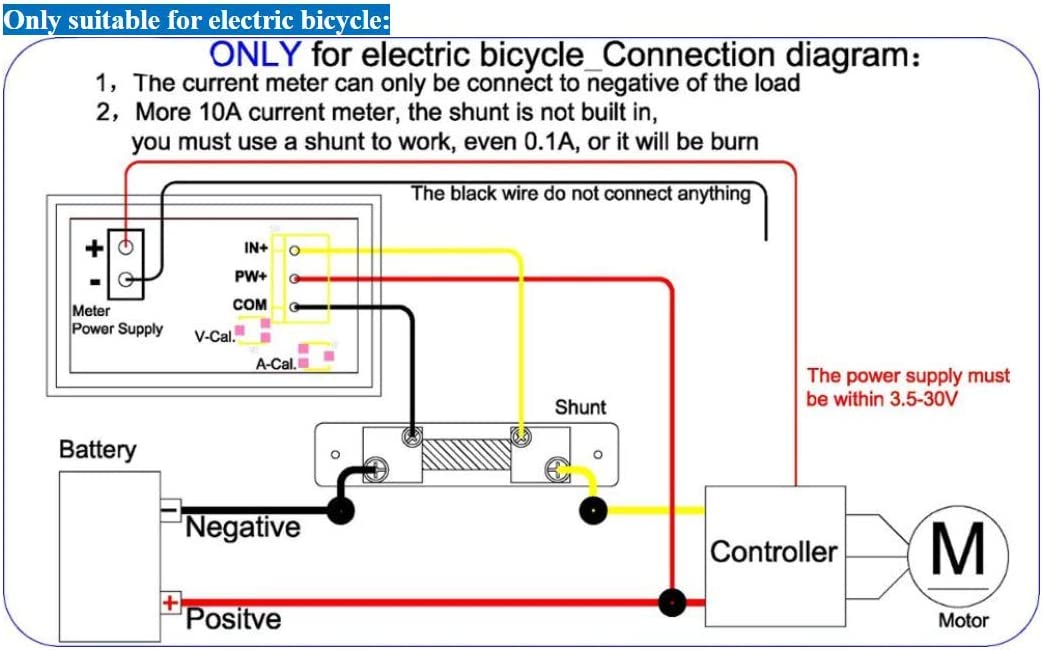 10A Rot-Blau DC 0-100V Spannungsmesser Spannungsamperemeter LED Volt Amp Panel Ampere Voltmeter Strommesser DC 10A 50A 100A mit Shunt Voltmeter Amperemeter 4.5-30V Strom Monitor Auto Electrombile