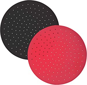Reusable Silicone Air Fryer Liners – 9 Inch Round Mat, Non-Stick Air Fryer Basket Mats for Baking, Cooking, Grilling, Air Fryer Accessories for Bamboo Steamer, Air Fryer, Cake Pan and More (0.2 cm Thickness)