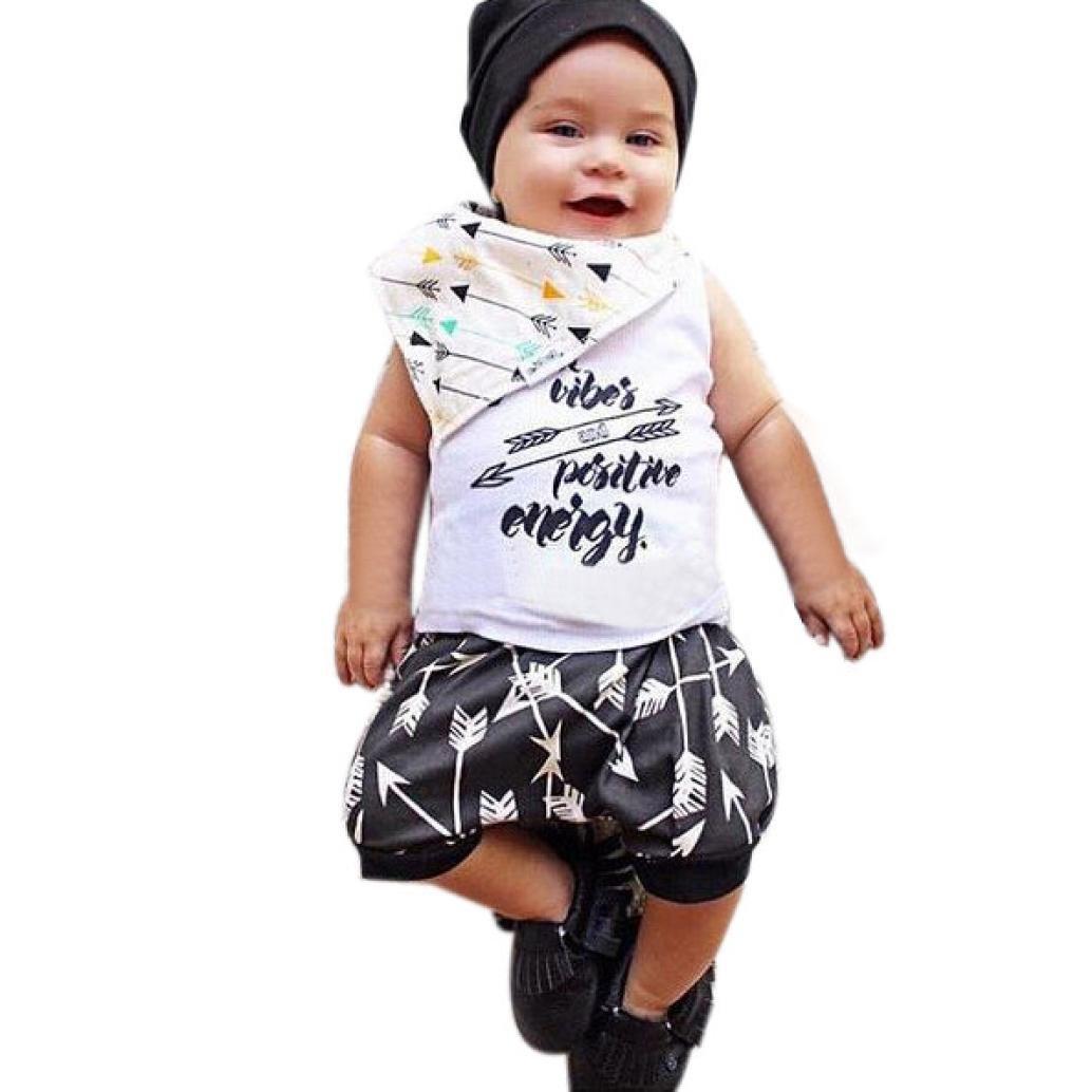 SMARTLADY Verano Ropa Chaleco + Pantalones Cortos Para Bebé Niño (12-18 meses, Blanco): Amazon.es: Ropa y accesorios