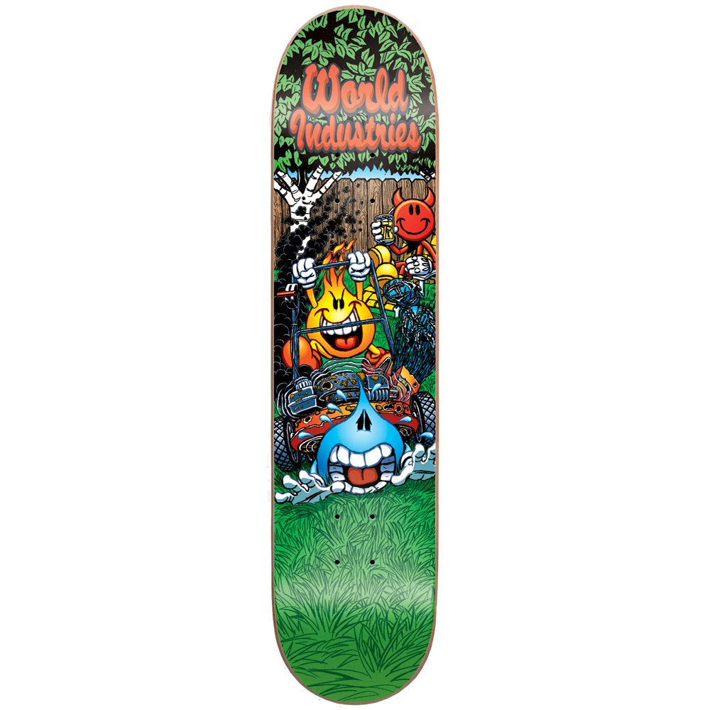 World Industries Rasenmäher Massaker Skateboard Deck (7, 5 x 31, 5) 5 x 31 WKD00067