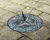 "Taiwan Decorative Solid Bass Constellations Sundial - 12"" inches Wide"