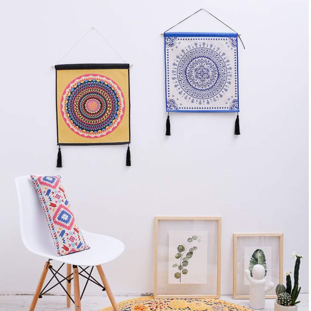 Decorazione Decorativa della Parete della Tela Cerata della Pittura della tappezzeria guarnita tricottata Ampia 45CM Alto 50CM Colore : E LIMING-arazzo Tapestry