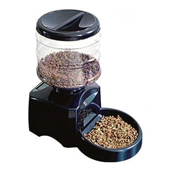 Homgrace Alimentador Automático 5L para Perros, Gatos y Mascotas con Pantalla LCD y Función de Grabación: Amazon.es: Productos para mascotas