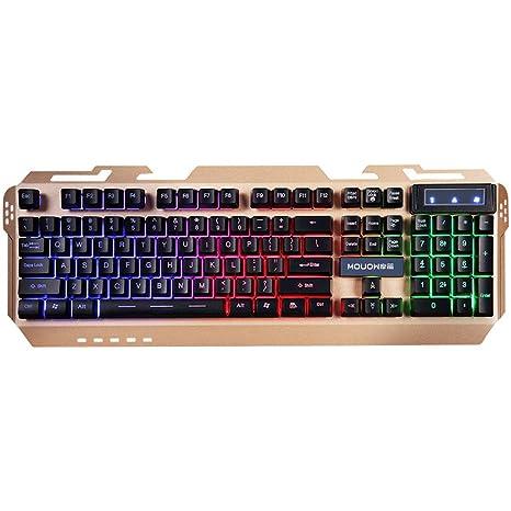 L&Y Teclados para Gamers Robot Teclado Gaming Keyboard Office Teclado USB Resistente al Agua y a Prueba