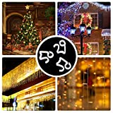 Meetory 50 Pcs Christmas Gutter Hooks Plastic Light Gutter Hang Clips for Xmas, Party Decoration Outside String Lights