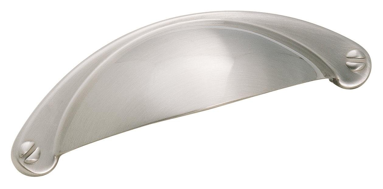 Amerock Essential'Z 2-1/2 in (64 mm) Center-to-Center Satin Nickel Cabinet Pull - 10 Pack