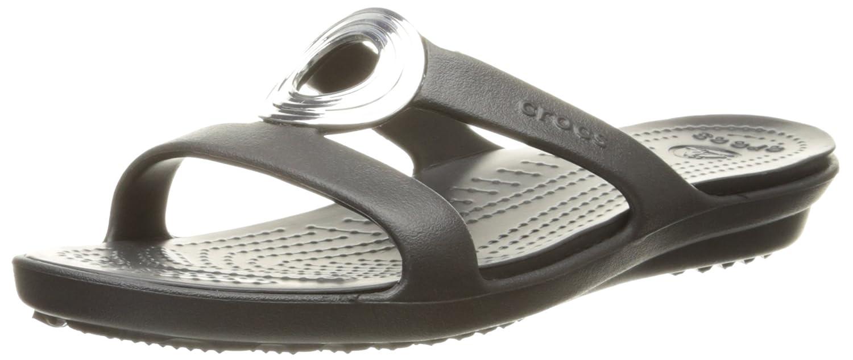 9bdc12675cff Crocs Women s Sanrah Beveled Circle Sandal  Amazon.co.uk  Shoes   Bags