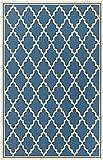 Cheap Couristan Monaco Collection Ocean Port Rug, Azure/Sand, 7'6″ by 10'9″