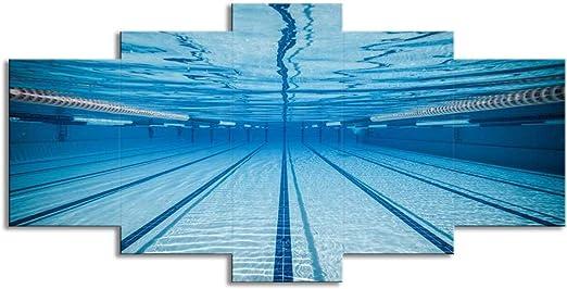 Casa creativa 5 paredes arte piscina paisaje subacuático hogar ...