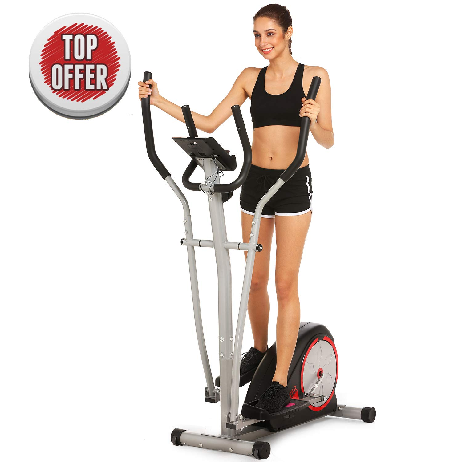 ncient Elliptical Trainer Magnetic Control Smooth Quiet Elliptical Machine Trainer,Top Levels Elliptical Trainer (Black-2)