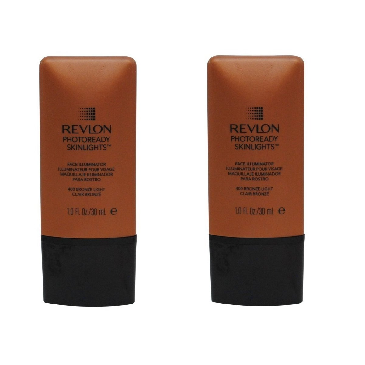 Revlon Photoready Skinlights Face Illuminator ~ Bronze Light 400 (2 Pack) + FREE LA Cross Tweezers 71817