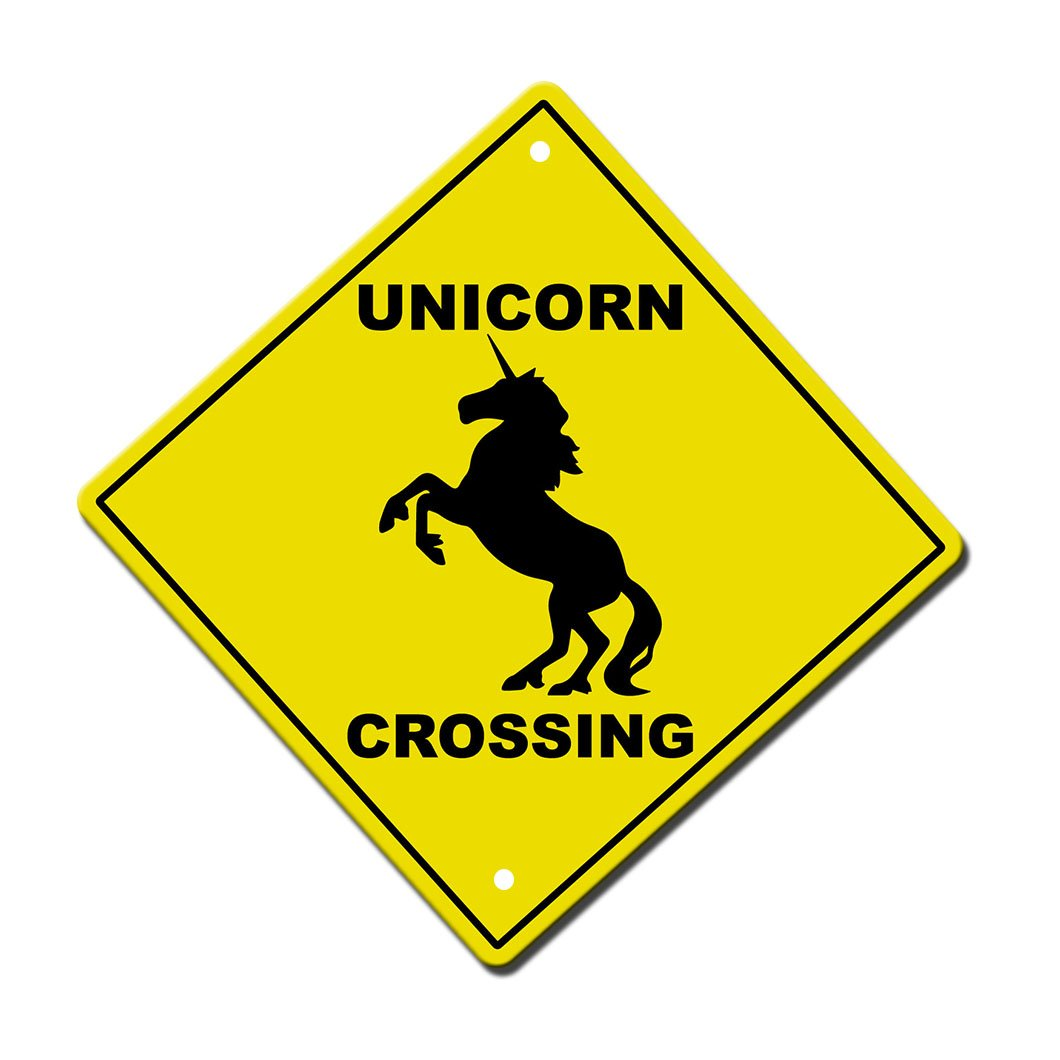 Unicorn Crossing Imaginary Animal Metal Aluminum Novelty Sign 12 in x 12 in by Fastasticdeals