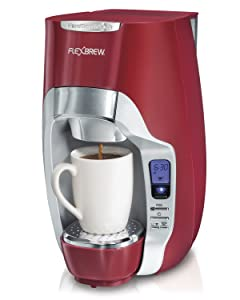 Hamilton Beach 49994 FlexBrew Programmable Single-Serve Coffeemaker, Red