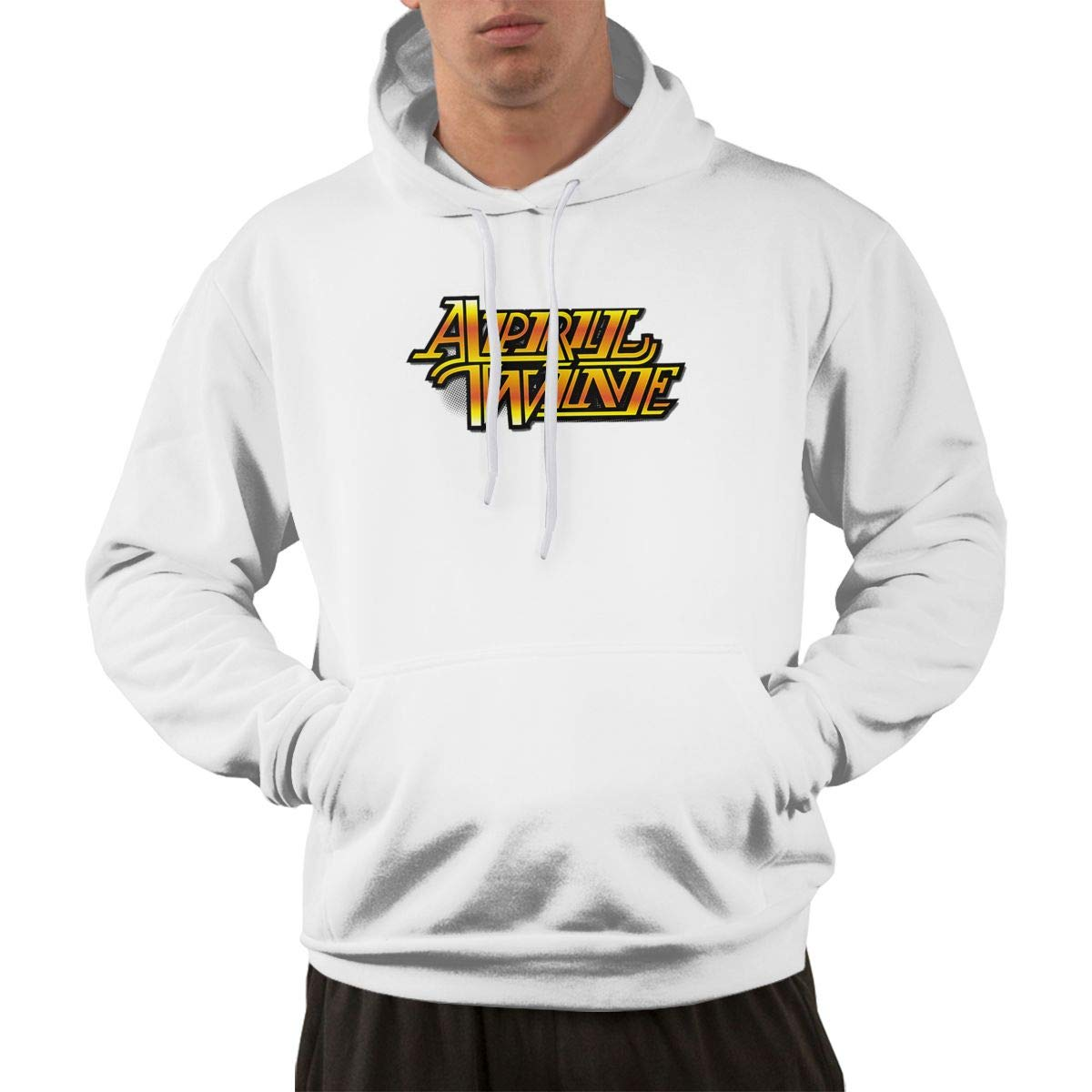 Erman Pullover Retro Print April Wine Logo Cool Hooded Shirts With Pocket M
