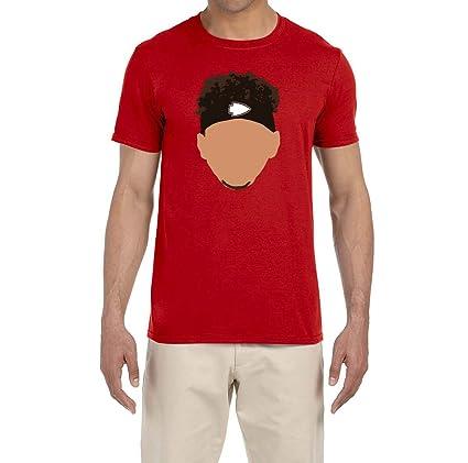 66d7887d640 Amazon.com: Tobin Clothing RED Kansas City Mahomes Face T-Shirt ...
