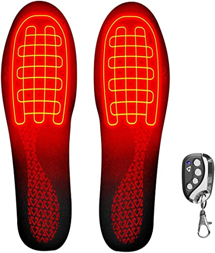 Rechargeable Heated Insoles Foot Warmer Heater Charging Heat Boots Shoes Pad