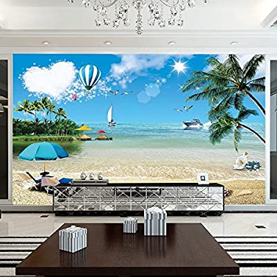 XLi-You 3D View Of The Ocean Large Murals Wallpaper Seamless Wall Cloth