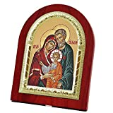 FENGMICON the Holy Family Wooden Back with Metal Trim Frame Christian Icon Catholic Gift