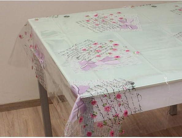 160 x 250 cm transparent Soleil dOcre Tischdecke aus PVC