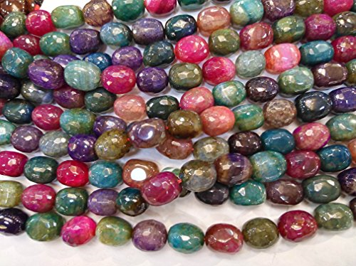 AA+ 13-18mm Agate Stone Quartz Crystal Rainbow carnerial beads Crystal Nuggets Slab faceted full strand (Agate Slab Necklace)