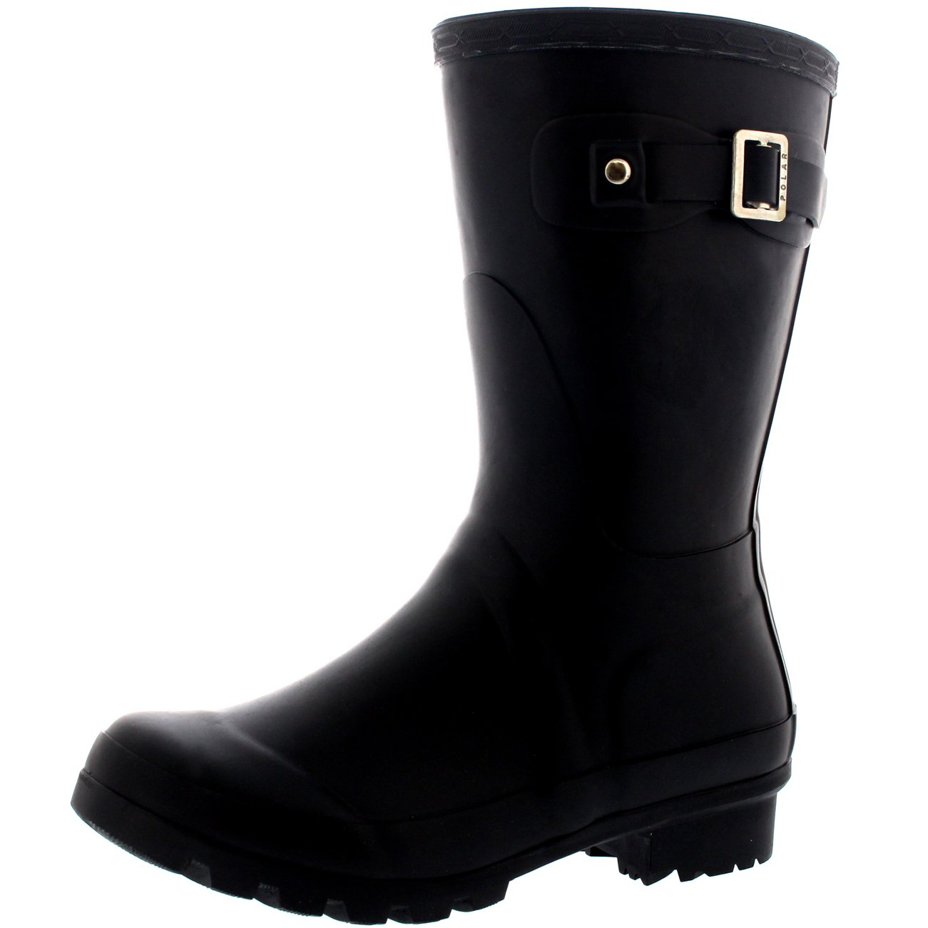 Amazon.com | Polar Products Womens Original Short Festival Waterproof Wellie Snow Wellingtons Boots - 7 - BLA38 BL0061 | Mid-Calf