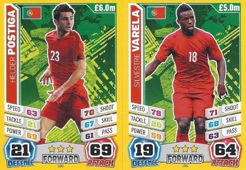 Match Attax England World Cup 2014 Portugal Base Card Team Set 11 Cards