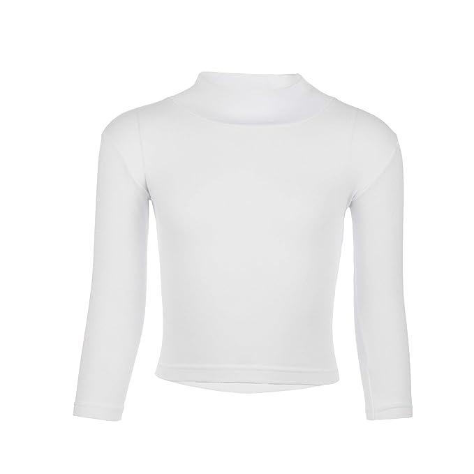966cefa732 T-Shirt Bimba/Bimbo Collo Lupetto Manica Lunga, Caldo Cotone: Amazon.it:  Abbigliamento