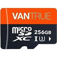 Vantrue 256GB MicroSDXC UHS-I U3 V30 Class 10 4K UHD Video High Speed Transfer Monitoring SD Card with Adapter for Dash…