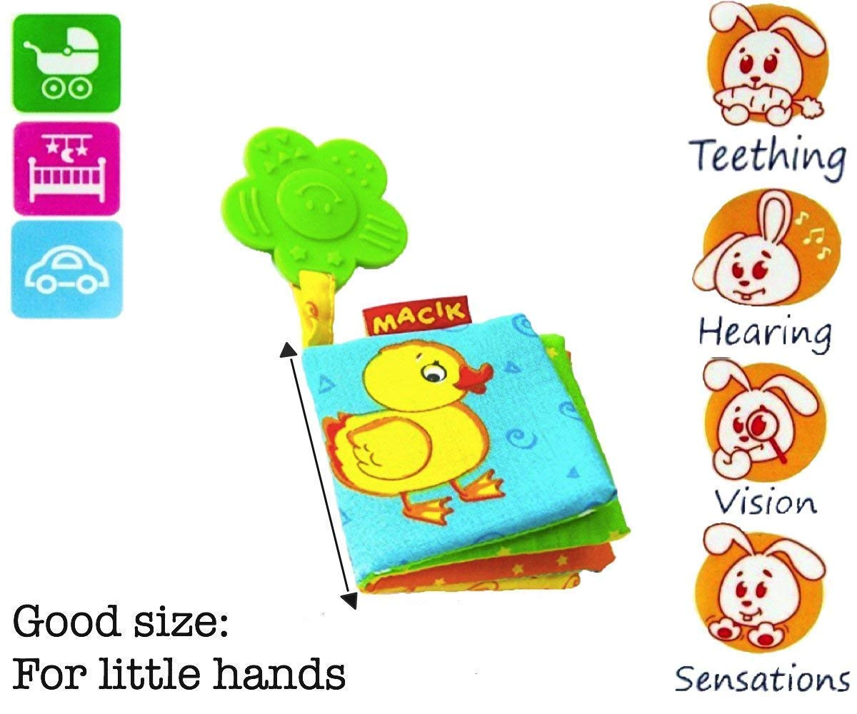 MACIK Baby Activity Book and Teething Toys PACK 2 Infant Developmental Toys for Boys and Girls Toys for Babies 6-12 Months Baby Toys 6 months Infant Teething Toys Baby Toys 6 to 12 Months Infant Toys by MACIK (Image #2)