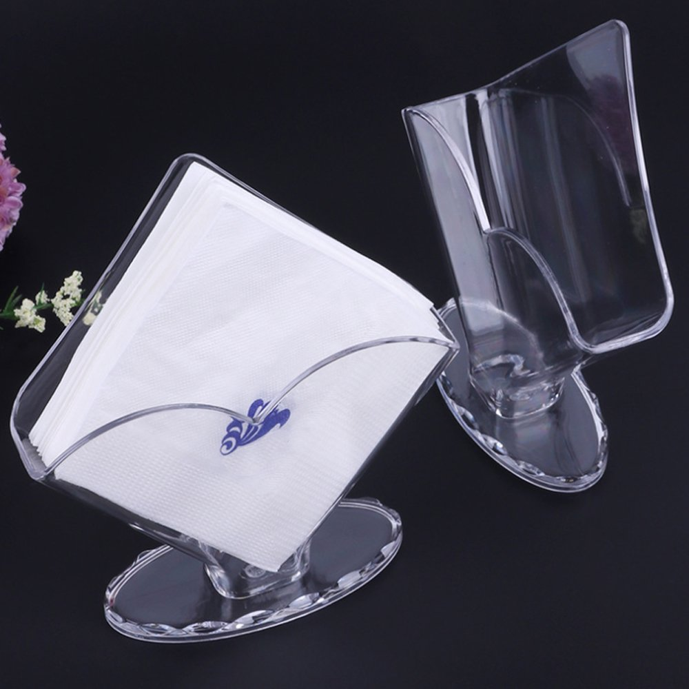 acrylic holder Napkin Holder Acrylic Napkin holders Restaurant Kitchen Tables Counter Design of Flower and Square by LLAMEVOL