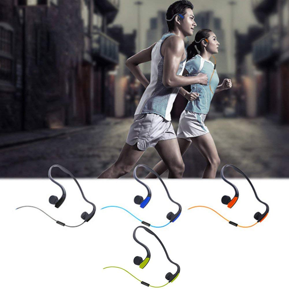 RoadRoma Auriculares de conducci/ón /ósea Bluetooth Impermeable reducci/ón de Ruido Deporte Auriculares Negro