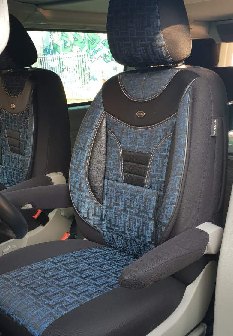 904 Ma/ß Sitzbez/üge VW T5 T6 Multivan Fahrer /& Beifahrer ab BJ 2003 Farbnummer
