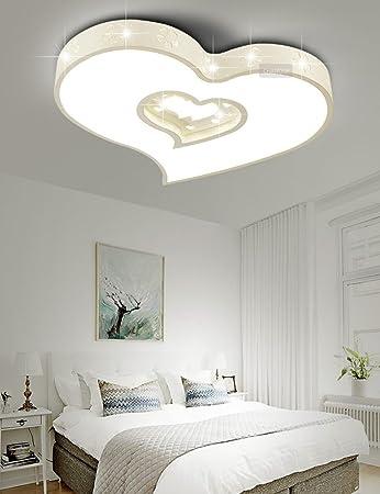 LIXIONG Modernes Einfaches Herzfrmiges Kinderzimmer Verstellbares Licht Acryl Deckenleuchten Kreatives Schlafzimmer Wohnzimmer Studie
