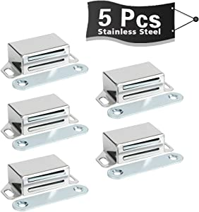 Alise 5-Pack Cabinet Door Magnetic Catch,Furniture Closet Catches Latch with Strong Magnetic,CA6000-5P Made of Stainless Steel