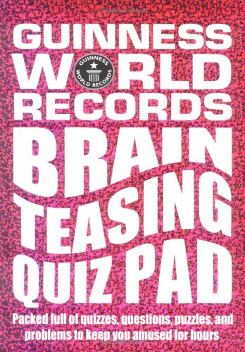 Guinness World Records: Brain Teasing Quiz Pad