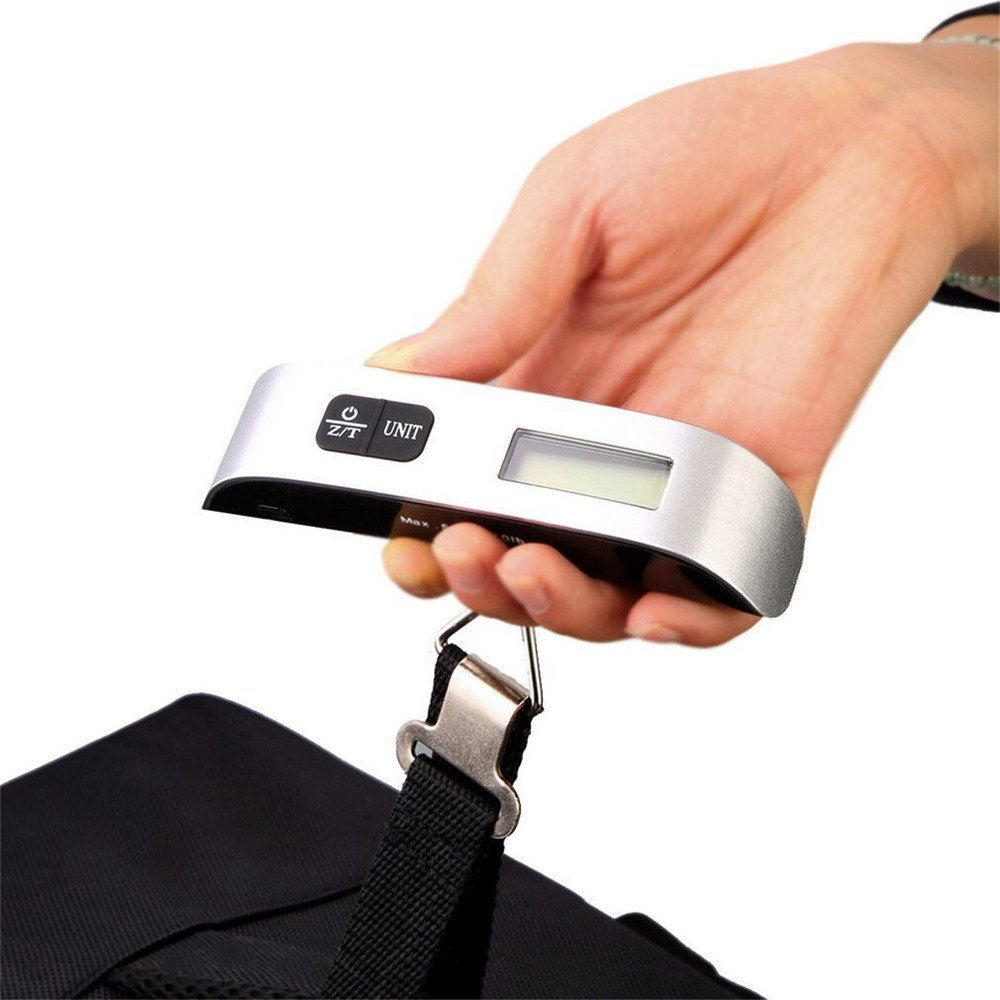 Backlight LCD Display Luggage Scale, Tuscom New 50kg/10g Portable Electronic Balance Digital Postal Luggage Hanging Scale with Rubber Paint Handle (Sliver) by Tuscom@ (Image #6)